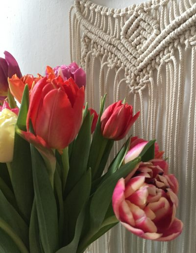 Tulips and Macramé